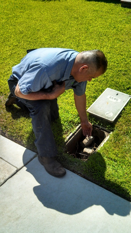 Checking A Water Meter Box