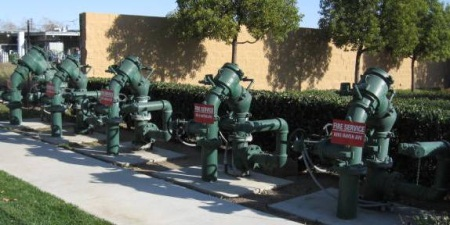 Array of Backflow Prevention Assemblies