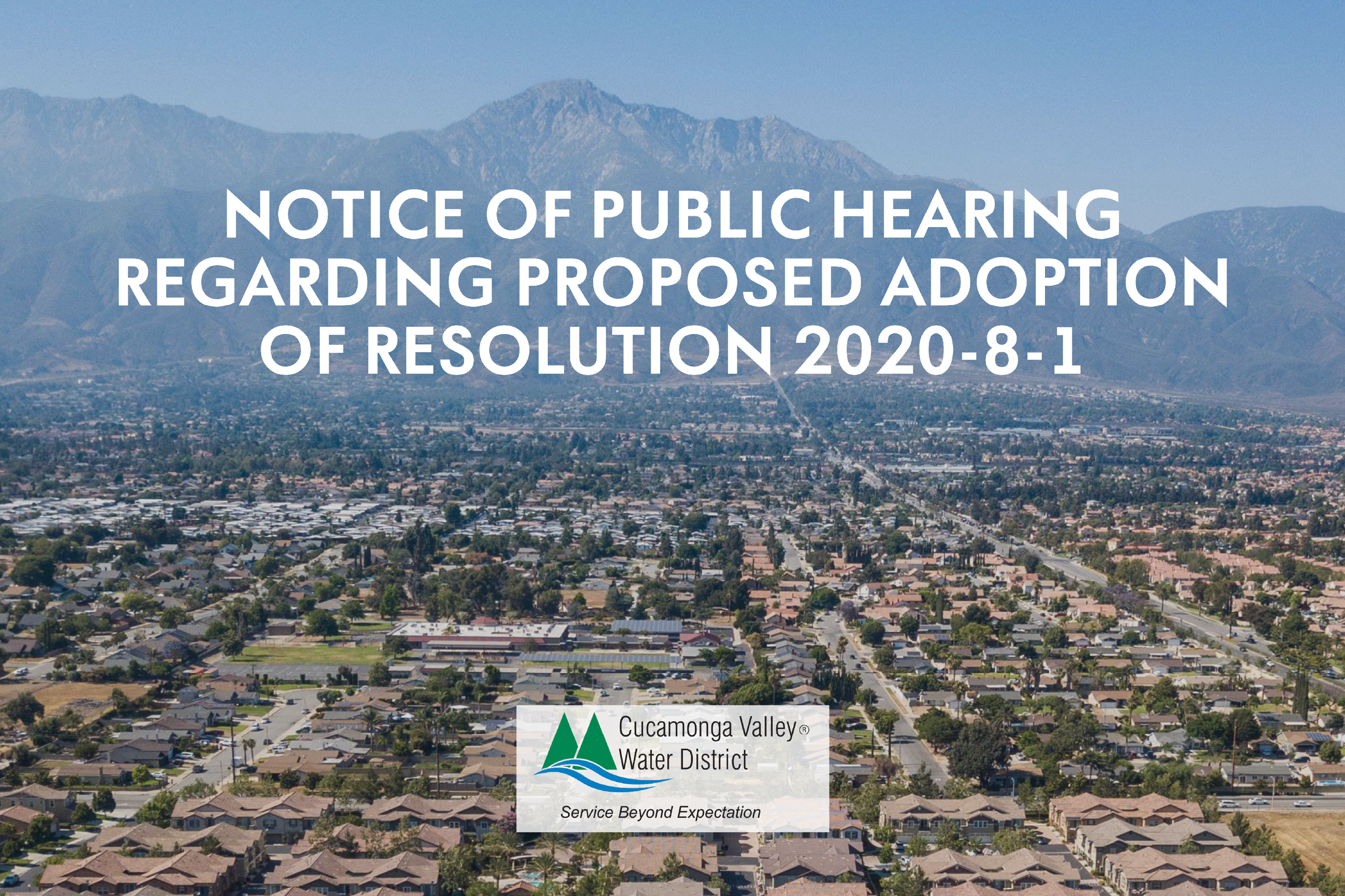 NOTICE OF PUBLIC HEARING REGARDING PROPOSED ADOPTION OF RESOLUTION 2020-8-1